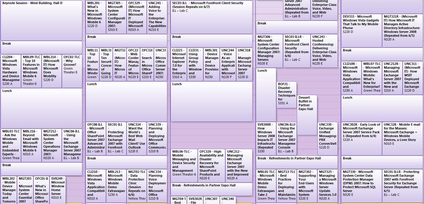 TechEd 2007 schema