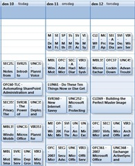 Teched 2008 schedule