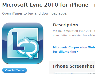 Lync for iPhone